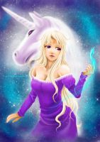 Amalthea the last unicorn by DreamerP012