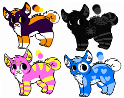 Adoptables-2 OPEN by Wolfies--Adopts