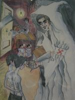 Dr. Mengele and his Twins by Virgil-Nigel