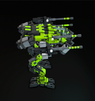 Medium voxel mech 3 =VOXELFIELD= (gif) by LaskunA
