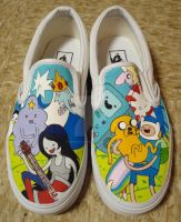 Adventure Time Shoes by shotgunopera