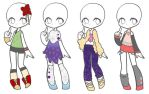 Outfit Adopts (OPEN) 45 Points! by LightChrome-Chan