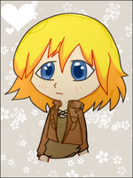 snk - Armin Arlert colored papersketch by TehEreminion
