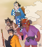 A Monk and his demons by enghurrd