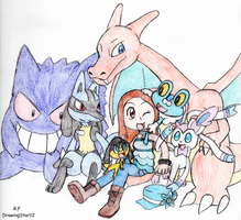 My Pokemon X Team by DrawingStar12