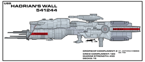 USS Hadrian's Wall   -  Aliens expanded universe by Bmused55