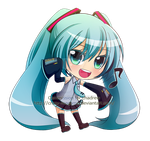 Commission-Chibi Miku by Crazy-megame