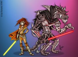 Beauty vs The Beast by 2Ajoe