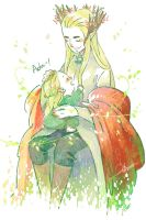Thranduil and his green leaf by harmonia3784