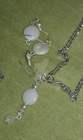 White Earring and Necklace set by ScoopGirl