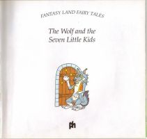 The wolf and the Seven Little Kids title page by werewolf-dragon