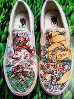 Okami shoes by Kirintheunicorn