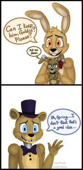 FNaF: Can I Keep Him? by LadyArcane