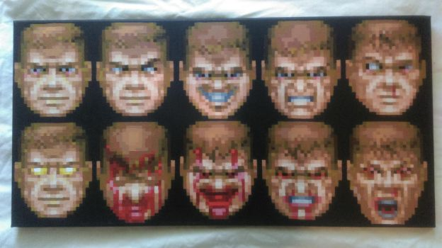 Faces of Doom by PixelArtPaintings