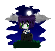 Chibi Request - Fumi Zombie-Chan by Angie-MR