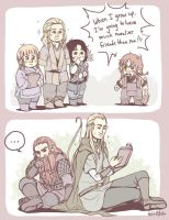 Hobbit - my manly friends by PetitPotato