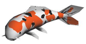 Papercraft - Koi Fish by Jyxxie