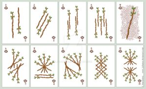 playing card number - clubs by JuliaMyr