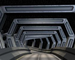 3D Bridge Tunnel - Curved by virtualdreamz