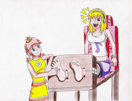 Amber's tickling punishment by master417