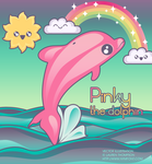 Pinky the dolphin by nymphont