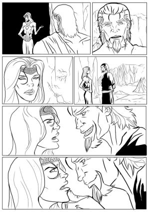 Krave issue 1 page 2 line art