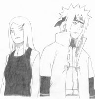 Kushina and Minato by RandomeDragon