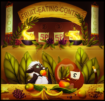 Fruit-eating-contest by Pfauenauge
