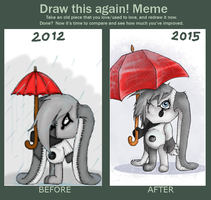 Draw this again! -- Rainy Day by Lexadre