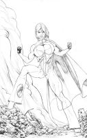 Power Girl: Commission by EJMorges