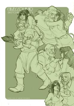 Sketchpage: Amy and Ohmid by FidisART