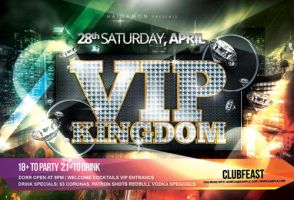 ViP Kingdom Party Flyer by caniseeu