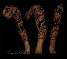 3/4 tribal sleeve by shepush