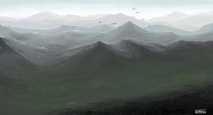 Morning Mountains by nimrohil