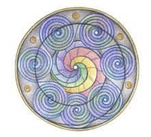 Spiral Dance Mandala by Spiralpathdesigns