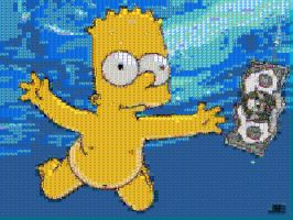 Skinny Dipping Bart Mosaic by smallrinilady
