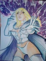 Emma Frost commission by danablackarts