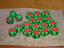 Melon Beads by redtailhawker
