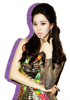 SNSD TTS Seohyun Glitter Silhouette Edit PNG 01 by xElaine