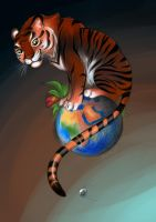 Day #10 Tiger on Earth by Bestary