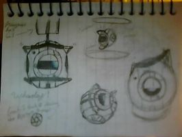 Wheatley artdump by AzureNightshade