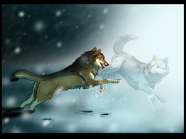 playing in the snow by The-Dread-Heart