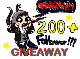 200+Giveaway by piplupiloveyou