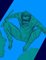 Sketch - Nightwing by tryvor