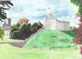 GCSE art 9: Cardiff Castle by cupcakesfromhell