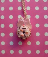 Baby pink donut -  necklace by NimfVirTi