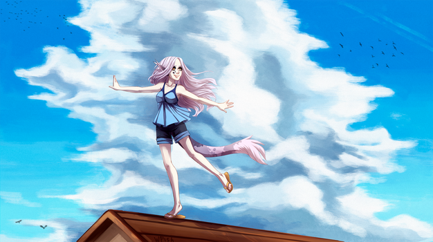 Over the rooftops by Weird--Fish