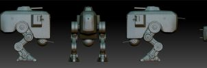 WWII Bipedal Tank-All Views by CAK1776