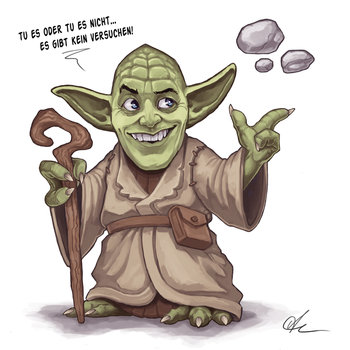Yoda Caricature by CapsTales
