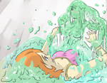 Slime Girl on Top by Silkyfriction
